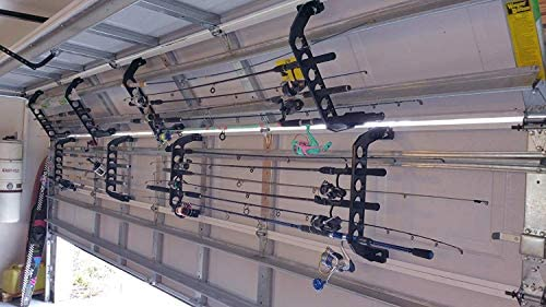 Amazon Com Cobra Storage Garage Door Fishing Rod Holder Rack 21 Home Improvement