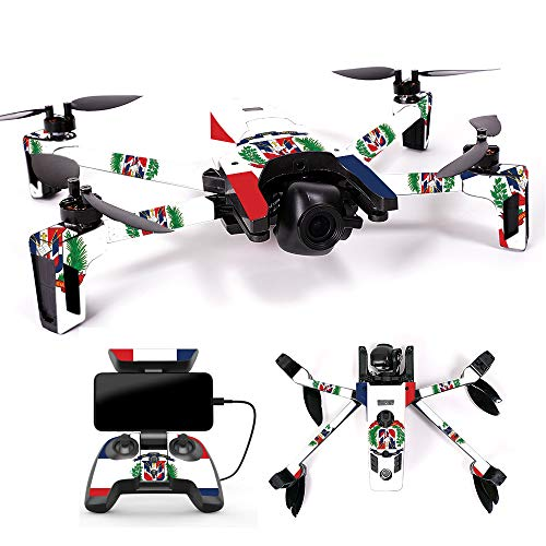 MightySkins Skin for Parrot Anafi Drone – Dominican Flag | Protective, Durable, and Unique Vinyl Decal wrap Cover | Easy to Apply, Remove, and Change Styles | Made in The USA For Sale