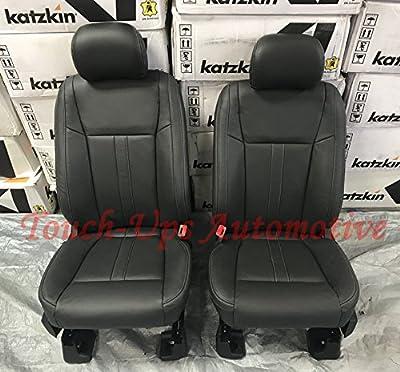 Katzkin 2015-2016-2017-2018 Ford F-150 SuperCrew XLT Black Leather Seat Covers