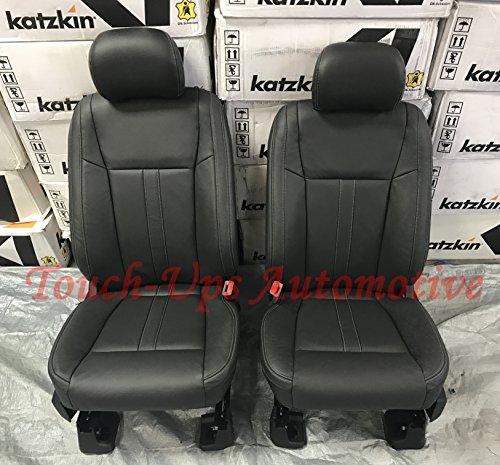 2015-2016-2017-2018 Ford F-150 SuperCrew XLT Katzkin Black Leather Seat Covers