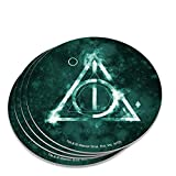 Harry Potter Deathly Hallows Logo Novelty Coaster Set