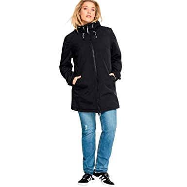 a6077851adc Ellos Women s Plus Size Zip Front Bonded Fleece Jacket at Amazon ...