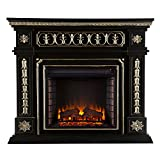 Southern Enterprises AMZ1669E Donovan Electric Fireplace, Black