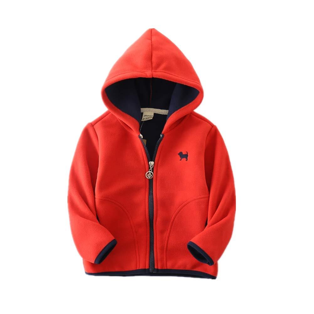 KIMJUN Baby Boys Girls Hooded Fleece Jacket Coat Toddler Kid Zipper Outerwear 2-7T