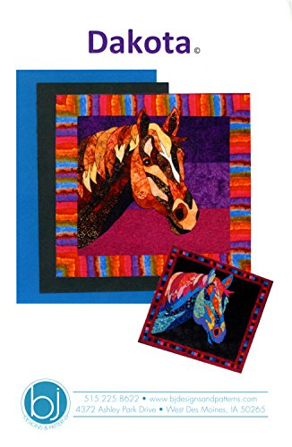 (Dakota Horse Fusible Applique Quilt 37 inch by 35 inch Wall Hanging)