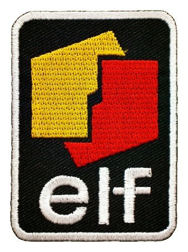 elf Lubricant engine lube synthetic Motor Racing Motorcycle oil Patch Sew Iron on Logo Embroidered Badge Sign Emblem Costume BY Dreamhigh_skyland -