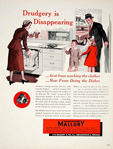 1950-ad-pr-mallory-dishwasher-interval-timer-switch-appliance-housewife-art-yft6-original-print-ad
