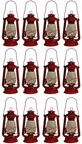 - Shop4Omni Red Hurricane Kerosene Oil Lantern Emergency Hanging Light/Lamp - 12 Inches (12)