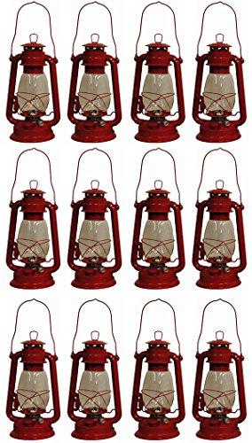 Red Hurricane Kerosene Oil Lantern Emergency Hanging Light / Lamp - 12 Inches (12) (Red Hurricane)