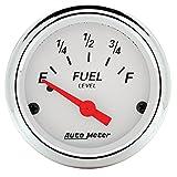 Auto Meter 1315 Arctic White Fuel Level Gauge