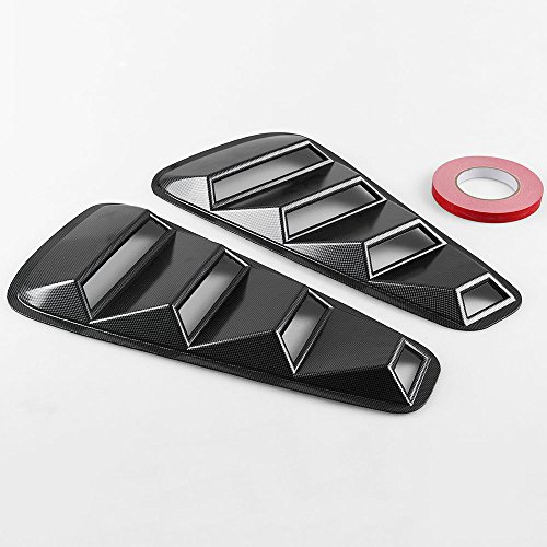 Etbotu 2005-2014 Ford Mustang 1/4 Quarter Side Window Louvers Scoop Cover Vent ()