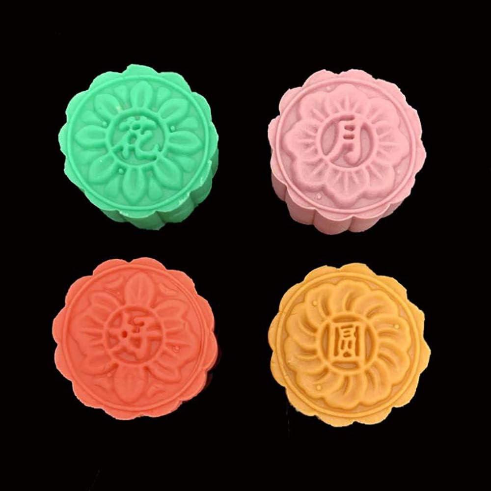 1 lot Minzhenamz Mooncake Mould Cookies Mooncake Moulure 3D en forme de lune 50 g avec 4 fleurs de timbres pour la p/âtisserie DIY