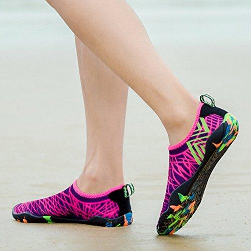 CHNHIRA Unisex Zapatos De Agua Pies Descalzos De Secado Rápido Para Playa Yoga Zapato Deprote Rosa