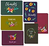 Thank You Cards 48 Multipack Flower Greeting Cards Blank on Inside with Envelopes 10 x 15 cm