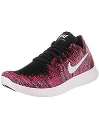 Women's Free RN Flyknit 2017 Black/White Racer Pink Running Shoe 5 Women US