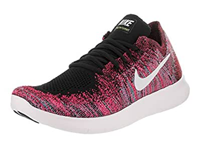 Amazon.com | Nike Women Free Rn Flyknit 2017 Running Black