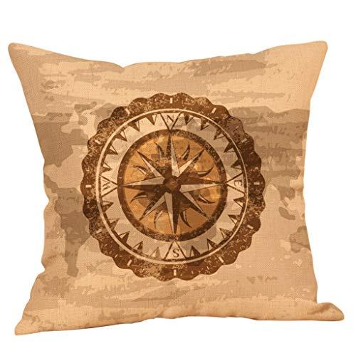 Amazon.com: Colmkley - Funda de cojín decorativa de algodón ...
