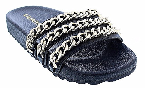 liliana-nomi-2-women-flip-flop-gold-chain-link-slide-slip-on-flat-sandal-shoe-slipper-black-10
