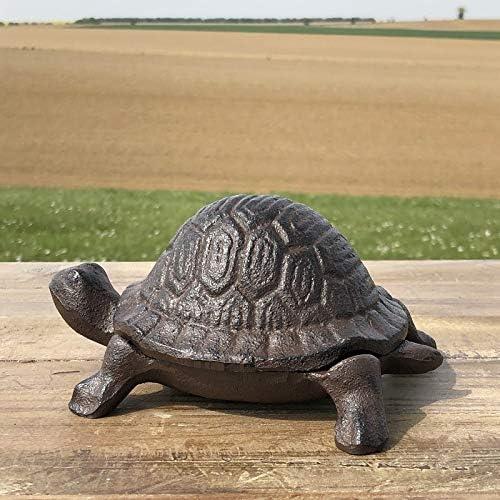 chemin/_de/_campagne in ghisa Portachiavi 15 x 8 x 6 cm motivo: tartaruga