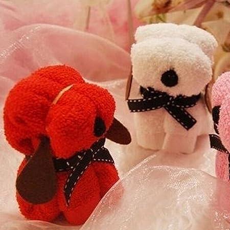 Brussels08 - Toalla de algodón Suave con Forma de Pastel de Perro, para Invitados, Bodas, Regalos, hoteles, spas, Bodas, Aniversarios, ...