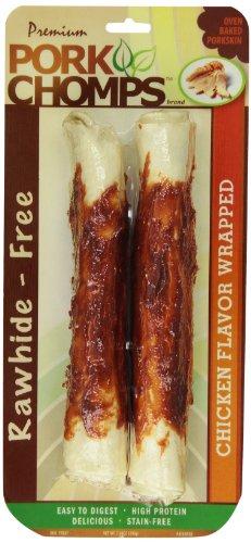 Rawhide Pork Roll - Premium Pork Chomps Rollz Chicken 8
