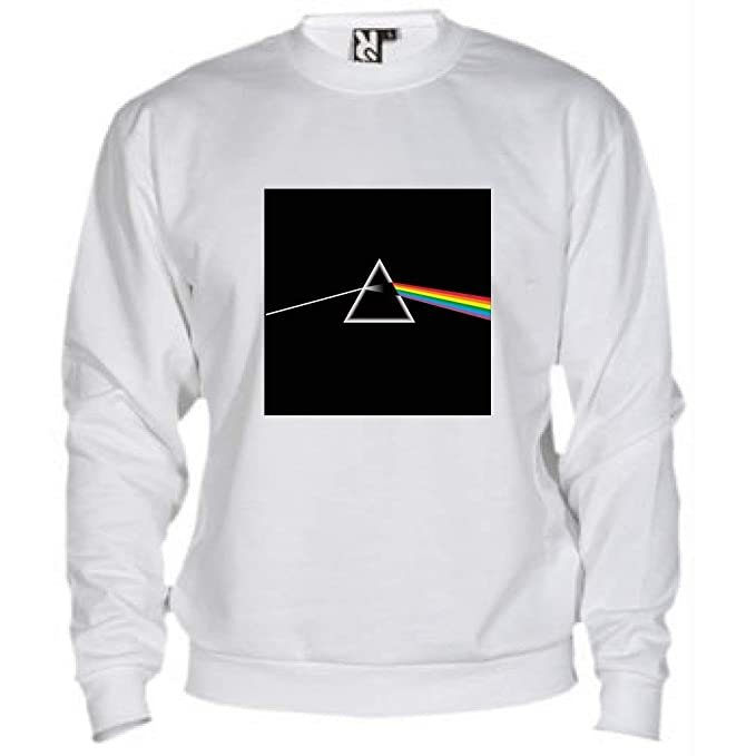 Felpa Set in Girocollo LaMAGLIERIA Felpa Unisex Pink Floyd Dark Side of The Moon