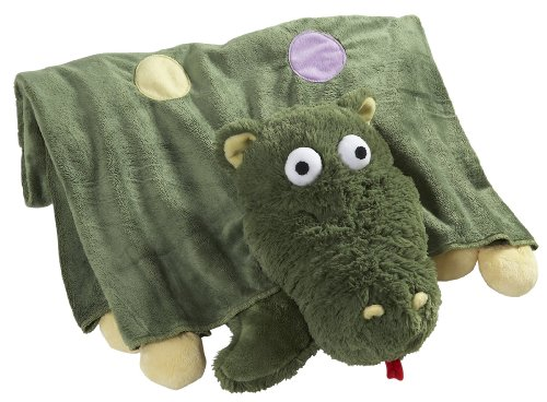 The Original My Pillow Pets Dragon Blanket (Green) (Tag Green Think)