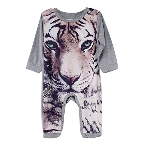 Preliked Baby Boy Girl Romper Cute Tiger Print Onesies Jumpsuit Playsuit Outfits