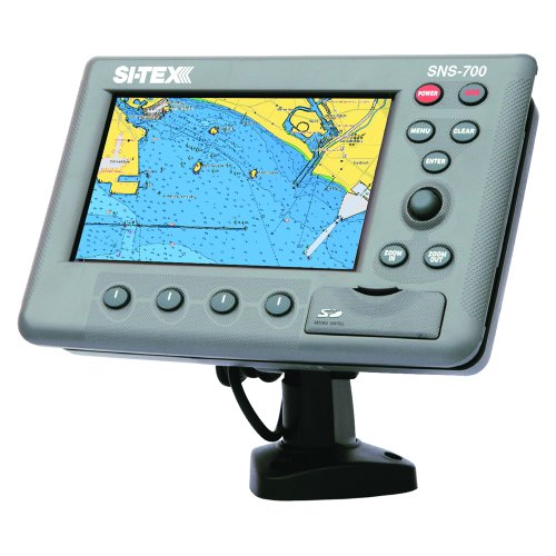 SI-TEX SNS-700EF Chartplotter & Fishfinder Combo w/External GPS Antenna and C-MAP MAX NA-M022 SD Chart (48678) primary