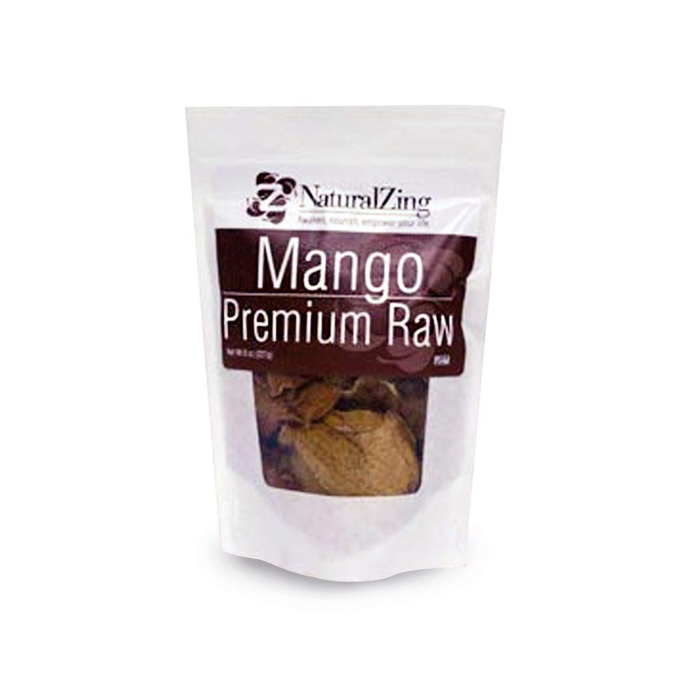Natural Zing 100% Premium Raw Organic Dried Mangoes, Delicious Fresh & Chewy Fruit Snack Slices, Unsweetened & Unsulfured, No Sugar Added, Vegan & Paleo Friendly Superfood, Sourced from Mexico, 1lb