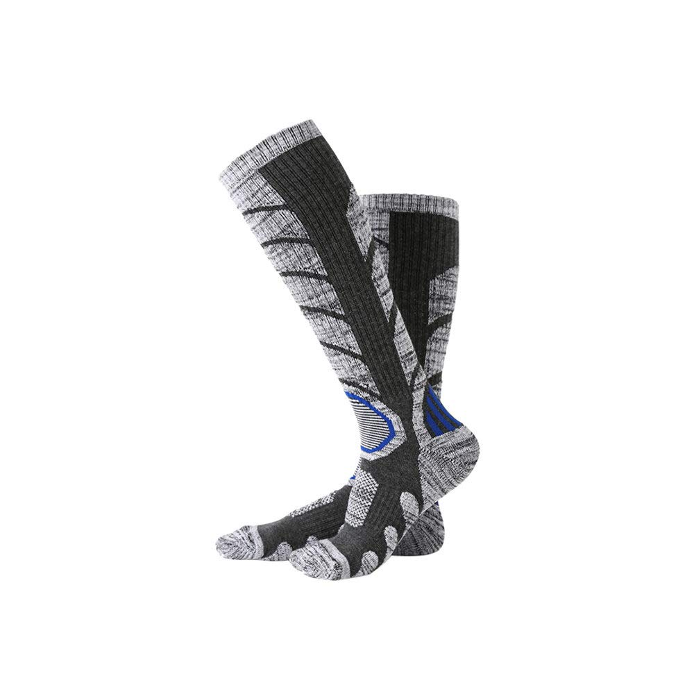 Antibacterial Odor-Resistant High Performance Thickened Warm Sports Stocking for Outdoor Skiing Hiking Black styleinside Ski Socks