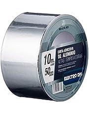 Tejp aluminium speciell användningstemperatur ventilation och isolering bredd 50 mm längd 10 m ElectroDH 04.465