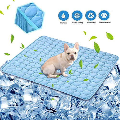aingycy Dog Self Cooling Mat Pad Non Toxic Ice Silk
