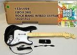 OEM Rock Band 1 XBox 360 Wired Fender Guitar + NEW Guitar Hero BAND HERO Game Bundle