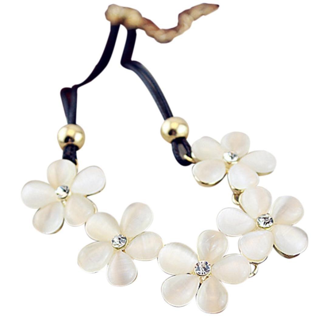 Clearance ! Yang-Yi 2018 Fashion Jewelry Women Crystal Flower Charm Choker Statement Bib Chain Necklace Gift (50 5 cm, as show)