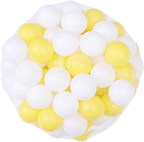 NUOBESTY 100 Piezas de plástico pequeñas Bolas de Jugar a la ...