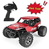 RC Car for Kids, 1:18 Rechargeable Remote Control Truck Racing Car Off Road, Electric High-Speed Off Road Desert Buggy...