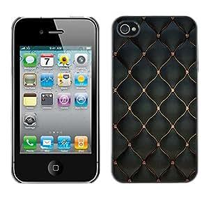 - Scales Pattern Leather Imitation - Caja del tel????fono delgado Guardia Armor- For iPhone 4 / 4S Devil Case