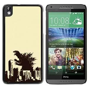 HTC Desire 816 Godzilla Black Screen Phone Case Unique and Custom Design