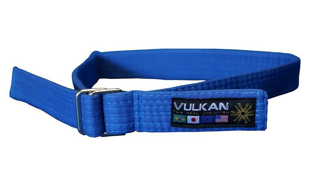 Vulkan Fight Company Street Wear Jiu Jitsu, Belt with Double-Ring Buckle for Martial Arts Sports, Blue, L by Vulkan