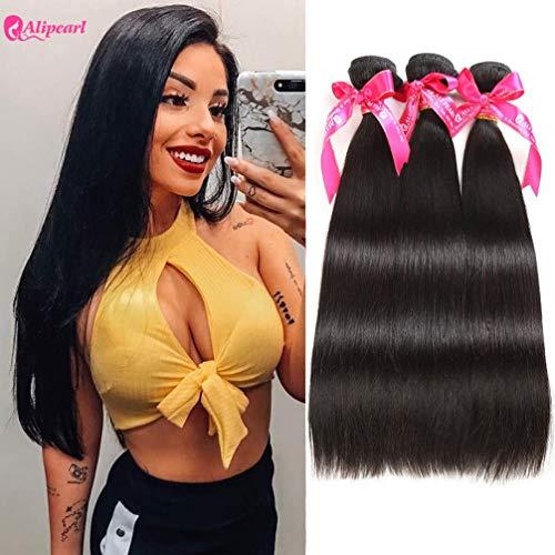 Ali Pearl Brazilian Virgin Human Hair 3 Bundles Unprocessed Straight Hair 3 Bundles Hair Extentions Wholesale Hair Deal (14 16 18) (Best Malaysian Hair Vendors)