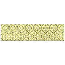 Kess InHouse MM4045AKP03 Miranda Mol Yellow Tessellation Art Clings 6.5-Inch x 9-Feet Strip Sticker Wallpaper Decal