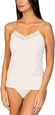 ZD ZERO DEFECTS Camiseta Interior de Tirante de Mujer con blonda- Colores y Tallas Disponibles (de la 38 a la 46): Amazon.es: Ropa y accesorios