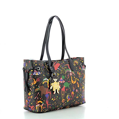 BORSA PIERO GUIDI MAGIC CIRCUS SHOPPER 214ER4088 P4 NERO