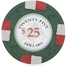 Pack of 50 Poker Knights Poker Chips, Heavyweight 13.5-gram Clay Composite by Claysmith Gaming