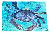 Blue Crab Coastal Beach Large Yard Flag From Art