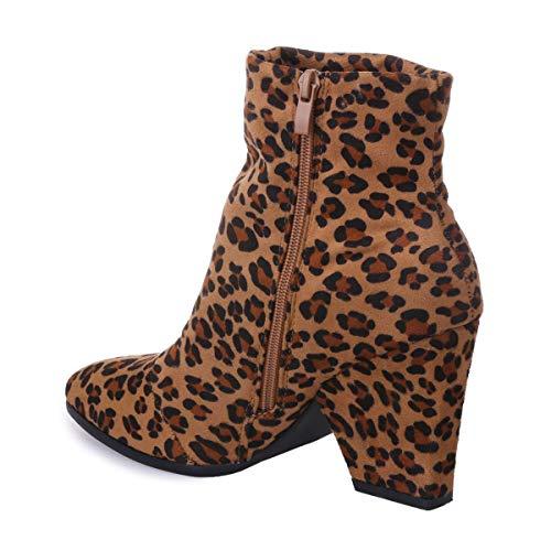 Modeuse Mujer Botas Sintético 52602 De Leopardo La wSdq7xF0g7