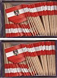 2 Boxes of Mini Austria Toothpick Flags%
