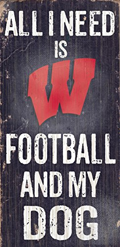 (Fan Creations C0640 University of Wisconsin Football and My Dog Sign)