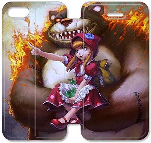 Klreng Walatina® Coque iPhone 6 6s Plus de 5,5 pouces Coque cuir Belle League of Legends Femme Championss N8U3Id